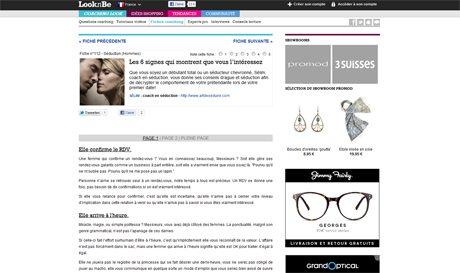 looknbe ArtdeSeduire.com dans les médias