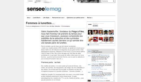 sensee ArtdeSeduire.com dans les médias