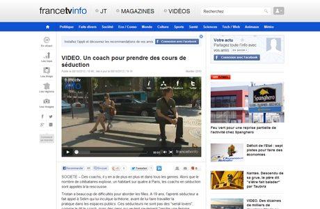 France TV ArtdeSeduire.com dans les médias