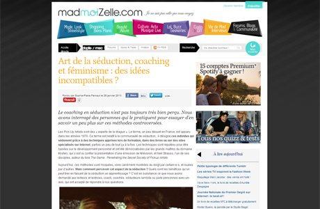 Madmoizelle ArtdeSeduire.com dans les médias