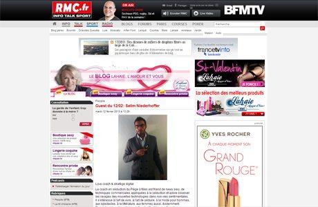 RMC ArtdeSeduire.com dans les médias