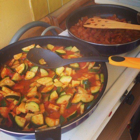 Lasagnes eÌ tape 1 Des lasagnes végétariennes légères pour une première