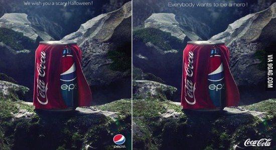 coke pepsi Le meilleur moyen de répondre à une vanne ?