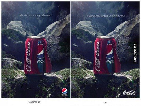coke pepsi1 Le meilleur moyen de répondre à une vanne ?