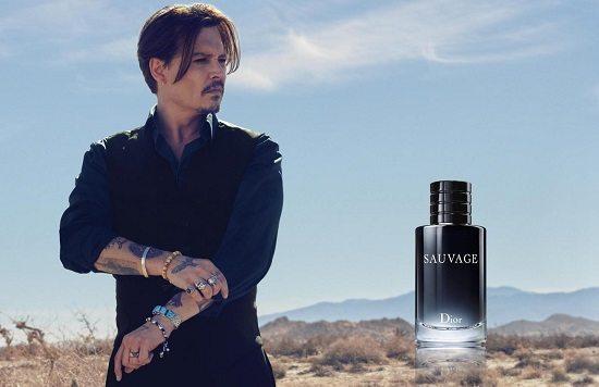 Egerie parfum homme johnnydepp 2 Égéries Masculines du top 10 des Parfums Hommes 2017