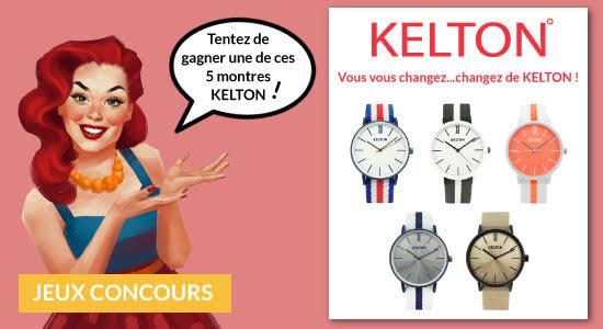 Artdeseduire.com Vous Offre Votre Kelton, La Montre de l'Eté [Jeu Concours]