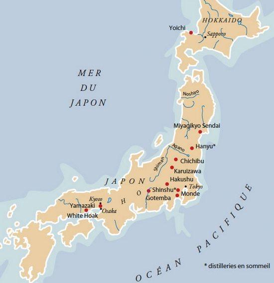 carte whisky japon Le Grand Guide du Whisky : Comment l'Apprécier Comme un Vrai Gentleman?