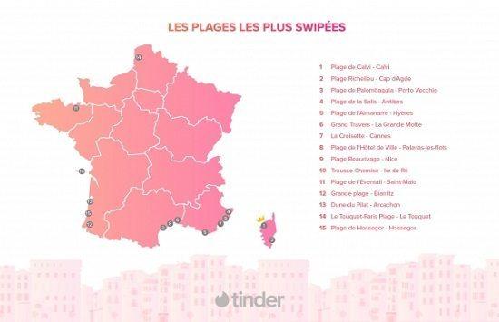classement plages tinder 1 Tinder Révèle les Plages de France sur Lesquelles on Drague le Plus !