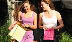 beautiful girls shopping