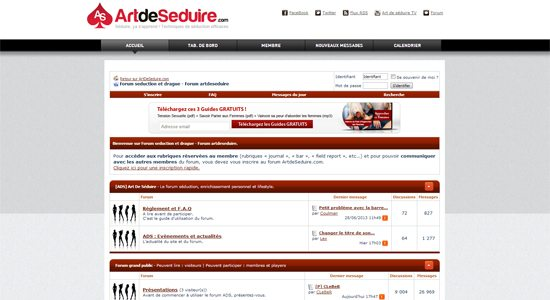 Forum ArtdeSeduire Forum Séduction : les 100.000 messages !