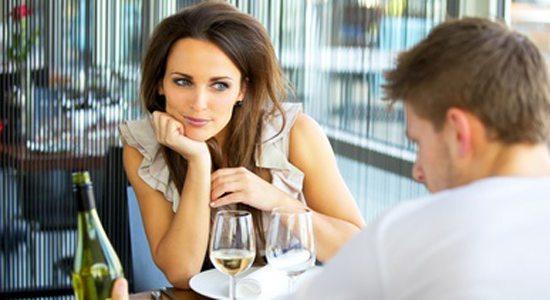 Woman In Love On Romantic Date