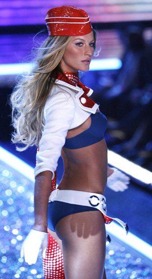 Victoria's Secret model Bundchen walks the runway at the Victoria's Secret fashion show in Hollywood