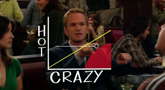 HIMYM hot crazy diagonal