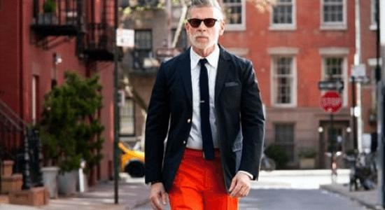 nick wooster pantalon orange