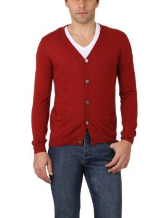 cardigan homme rouge