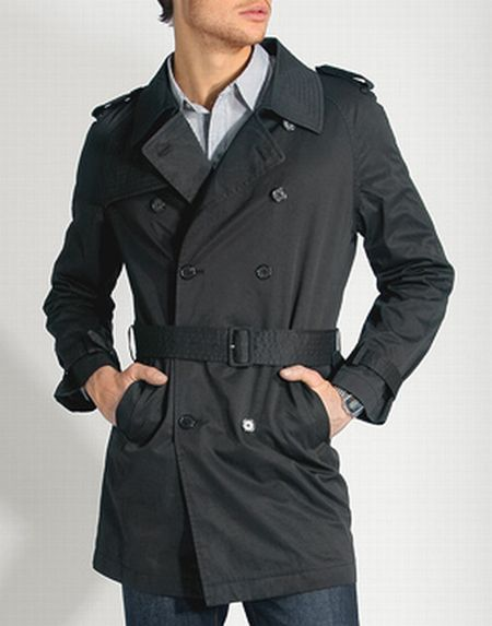 trench homme noir