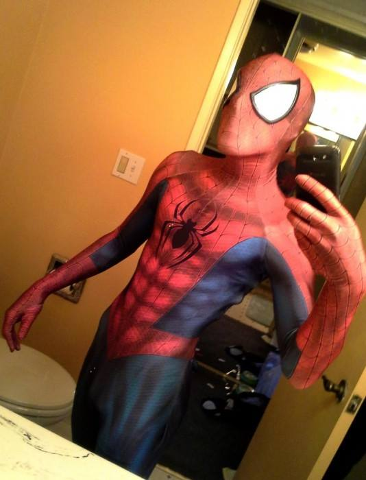 selfie spiderman