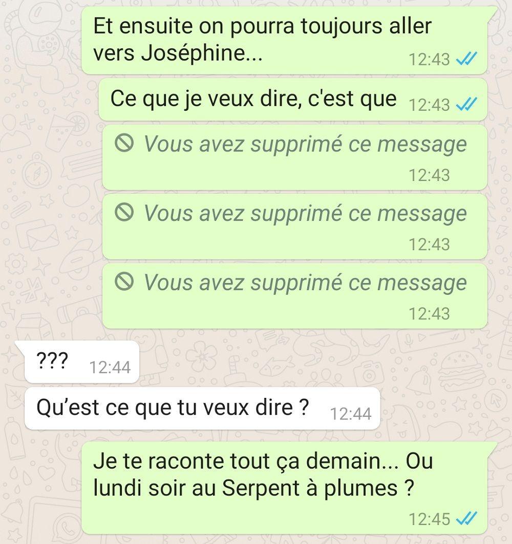 message supprimé whatsapp
