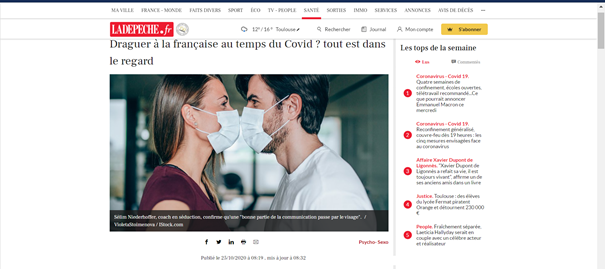 draguer covid masque